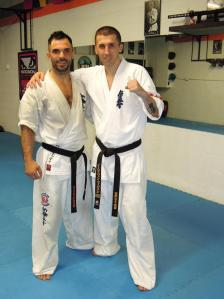 Michael Spineti and Sensei Steve Fogarassi