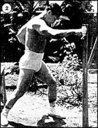 Sosai Mas Oyama training on the Makiwara